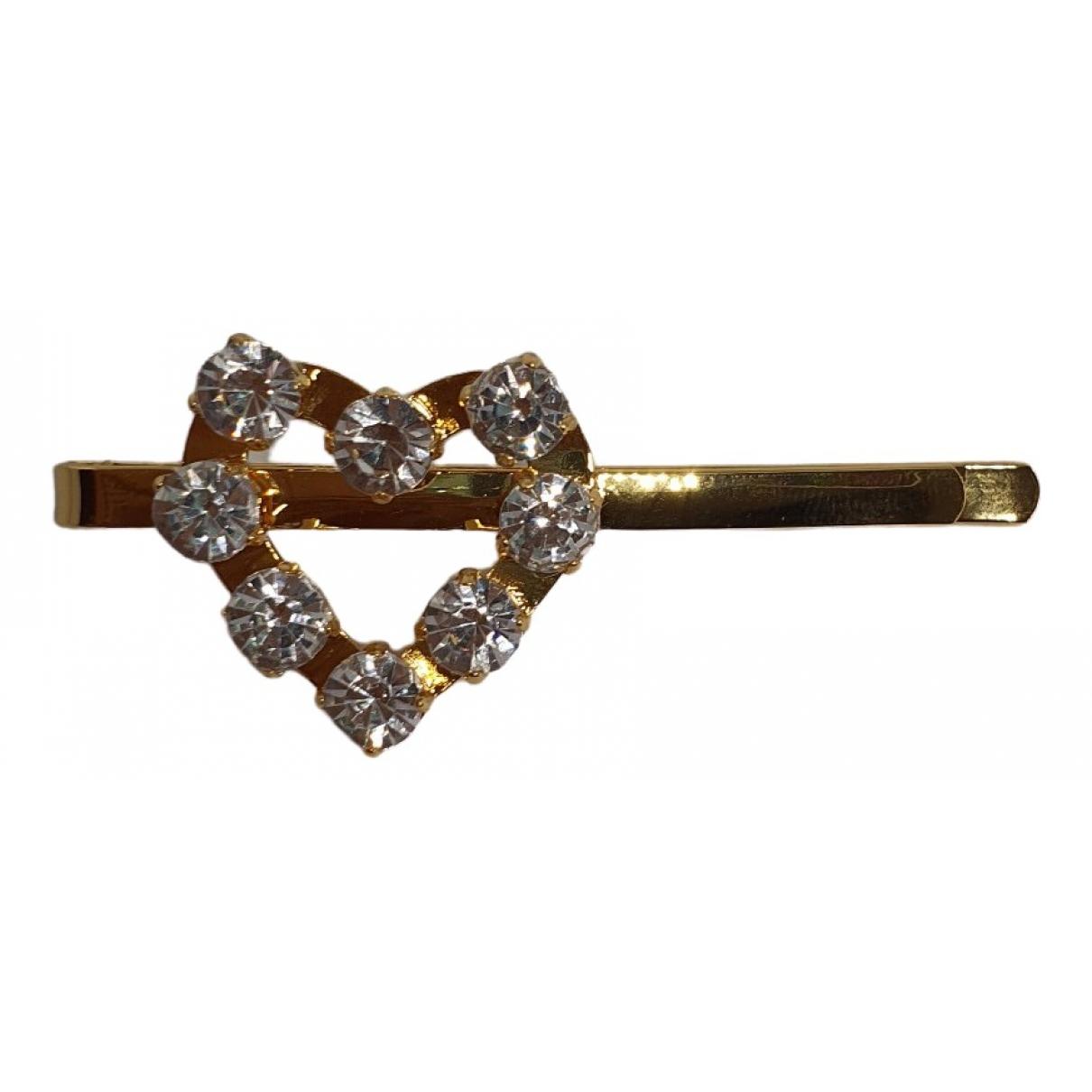 Miu Miu \N Haarschmuck in  Gold Kristall