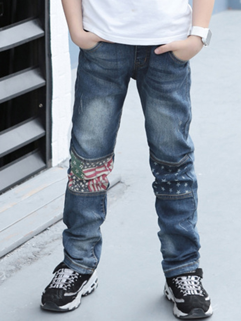 Ericdress American Flag Print Thicken Boy's Jeans