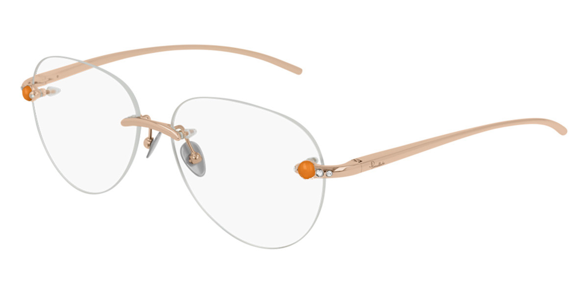Pomellato PM0069O 003 Women's Glasses Gold Size 55 - Free Lenses - HSA/FSA Insurance - Blue Light Block Available