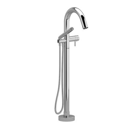 Riu RU39BN-SPEX 2-Way Thermostatic Coaxial Floor Mount Tub Filler with Hand Shower  in Brushed