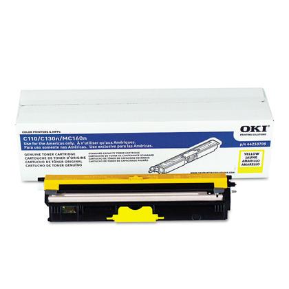 Okidata 44250709 Original Yellow Toner Cartridge