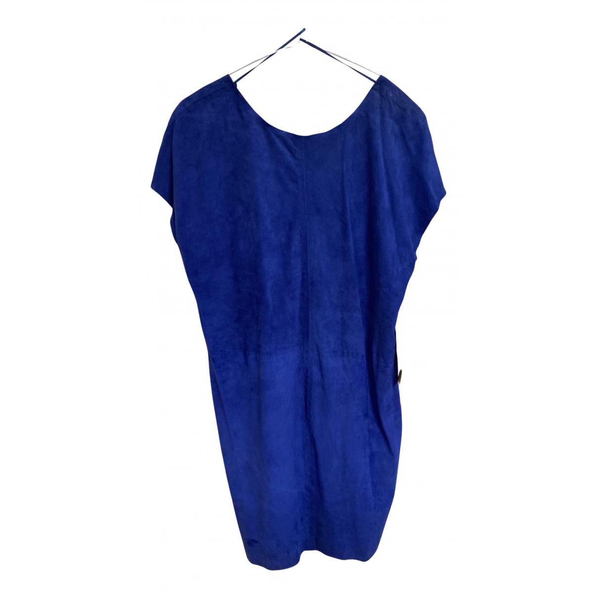 Jimmy Choo For H&m \N Kleid in  Blau Veloursleder