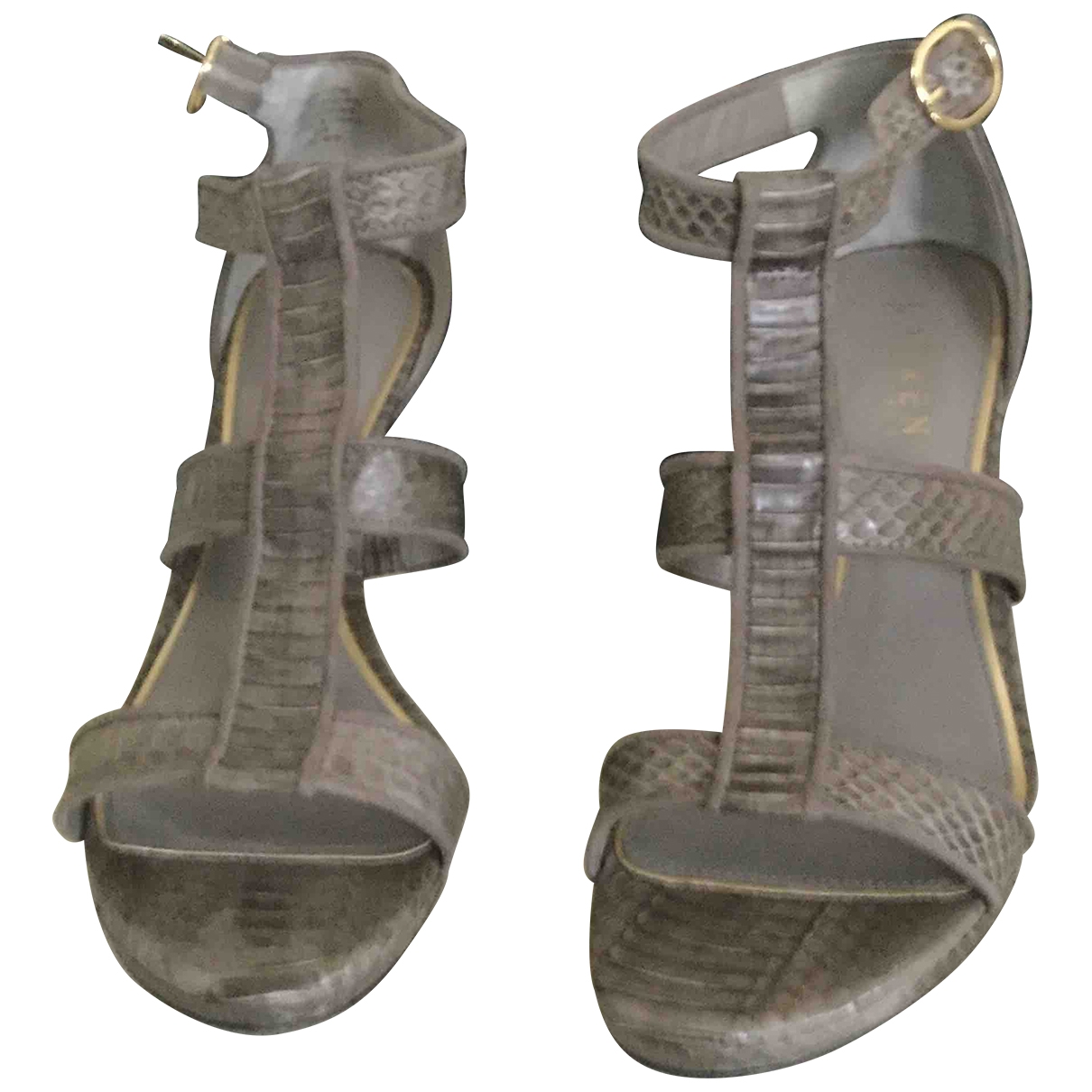 Ralph Lauren Collection \N Grey Exotic leathers Sandals for Women 38 EU