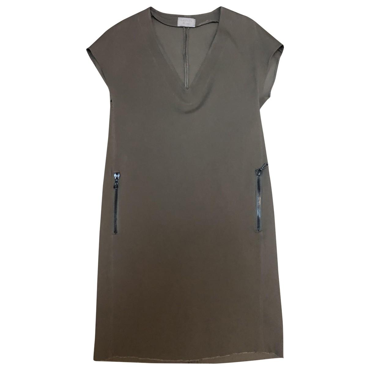Lanvin \N Kleid in  Beige Synthetik