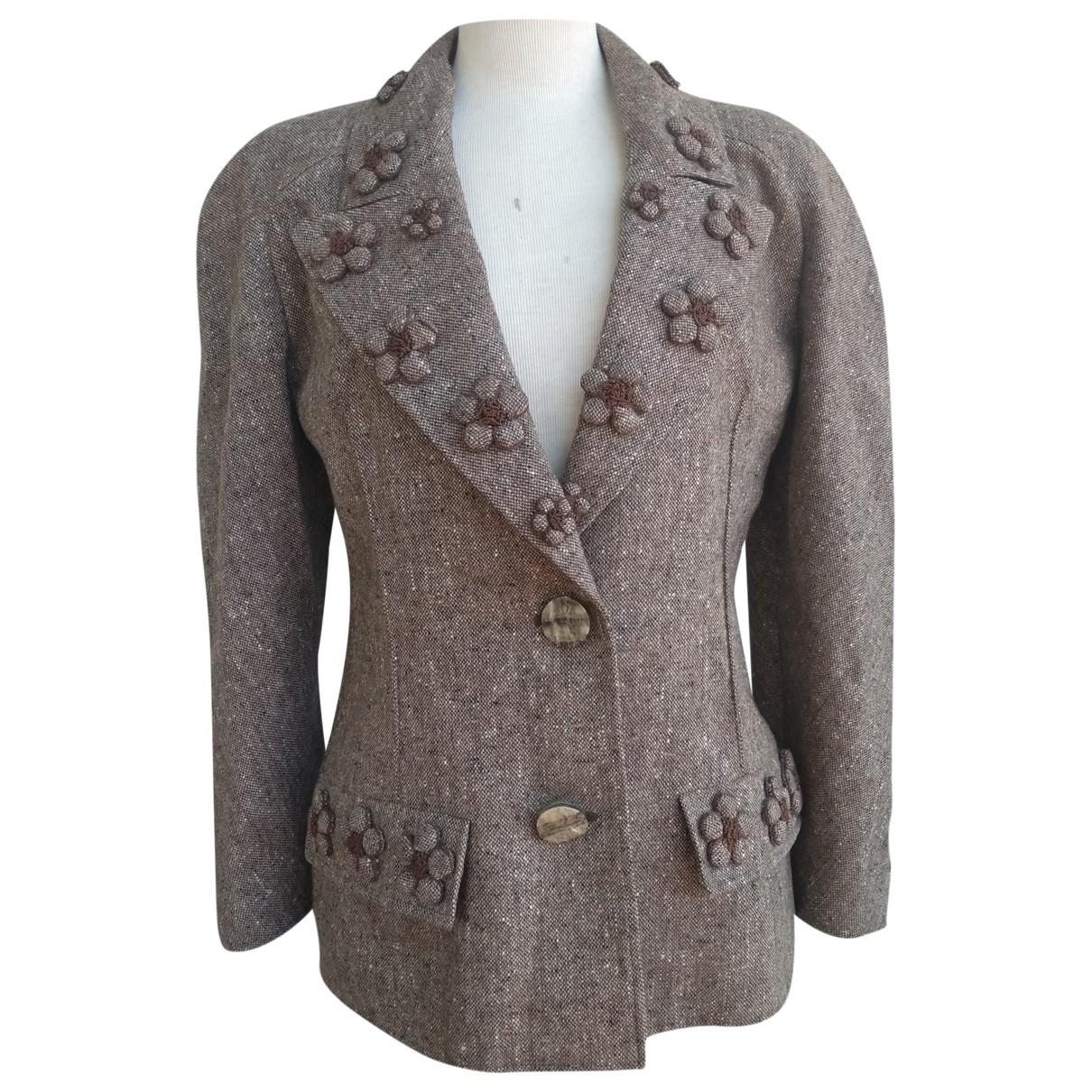 Valentino Garavani \N Beige Wool jacket for Women 44 IT