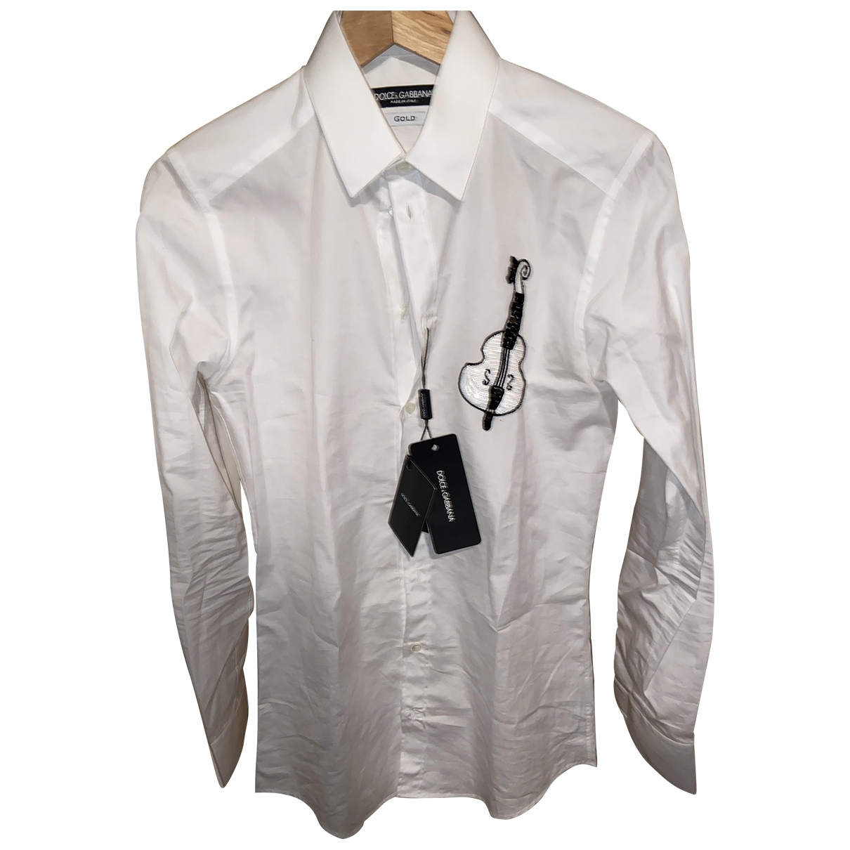 Dolce & Gabbana \N White Cotton Shirts for Men 14.5 UK - US (tour de cou / collar)