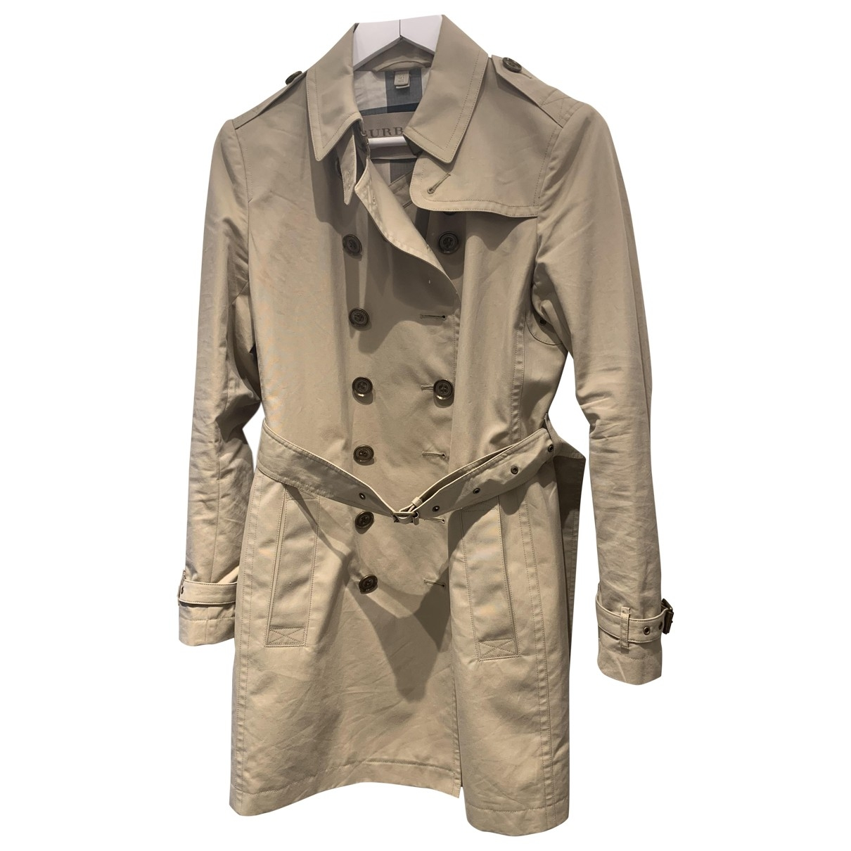 Burberry \N Beige Cotton Trench coat for Women 8 UK