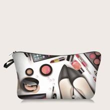 Graphic Makeup Bag