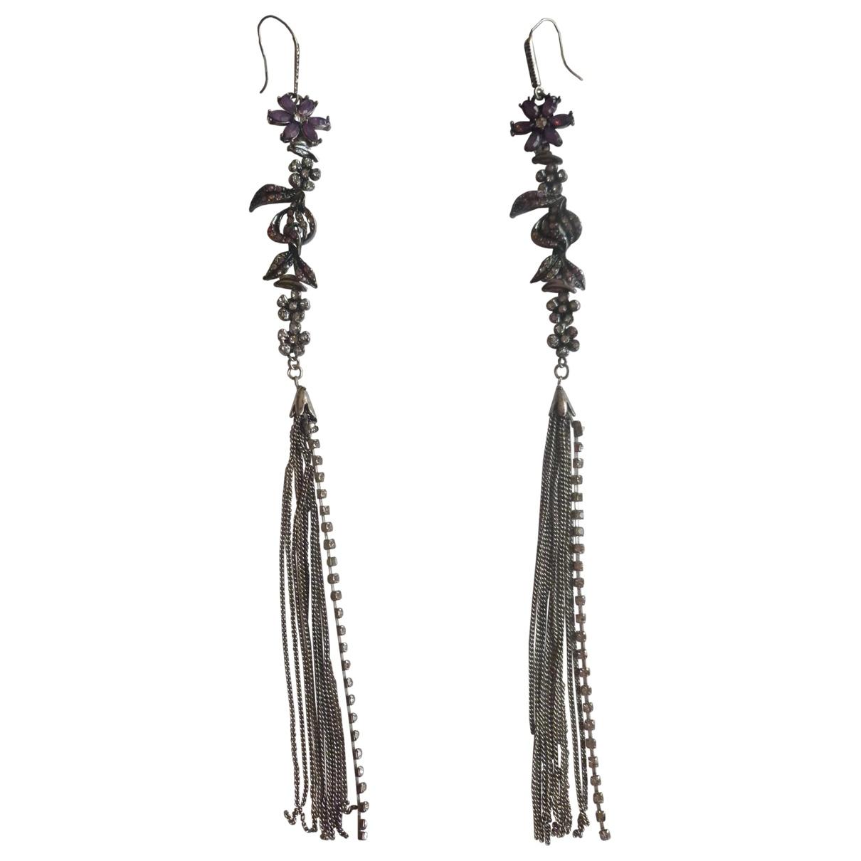 Zara - Boucles doreilles   pour femme en metal - argente