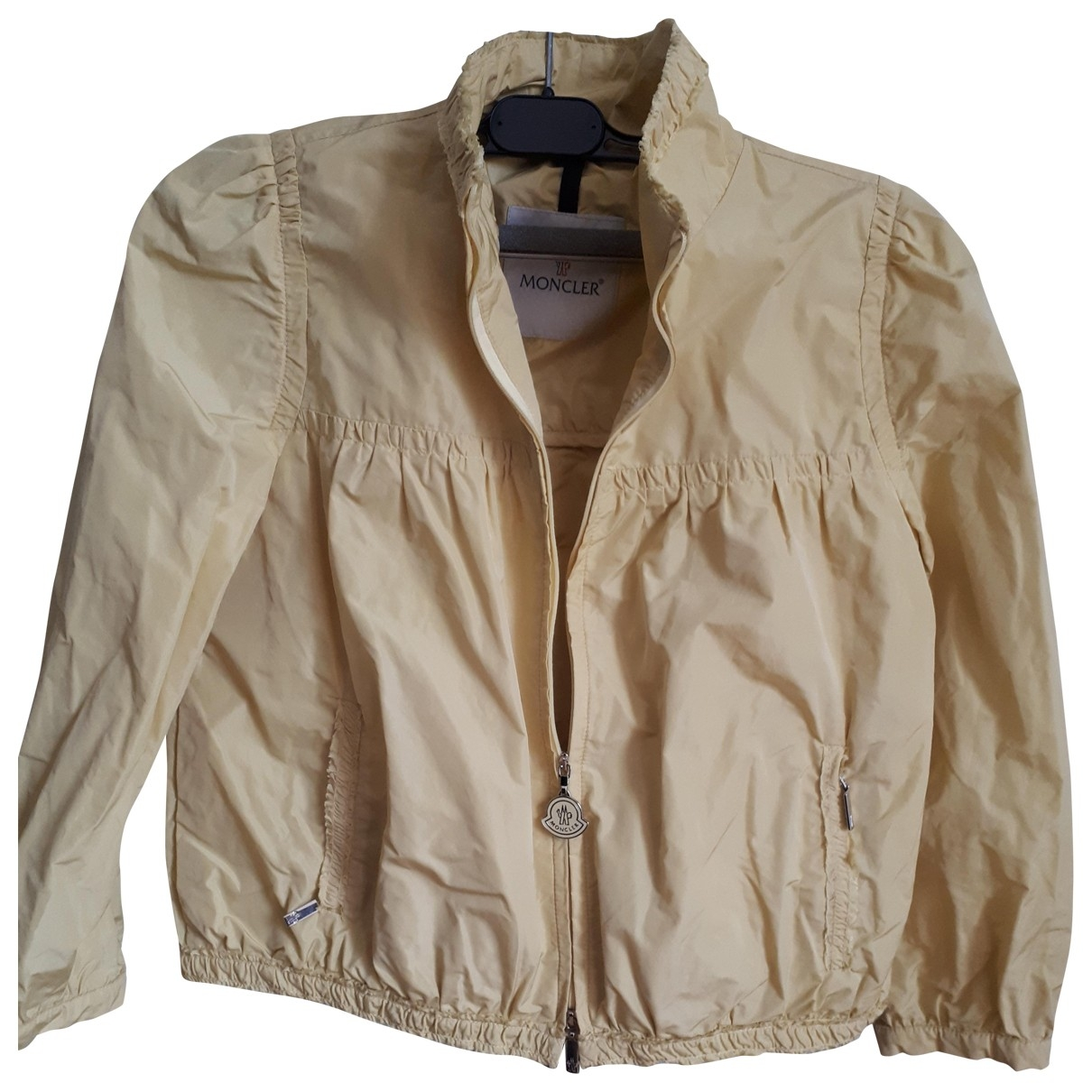 Moncler - Veste   pour femme en coton - jaune