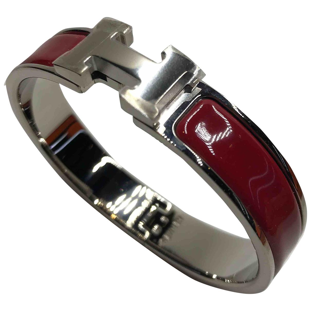 Hermes - Bracelet Clic H pour femme en metal - rouge