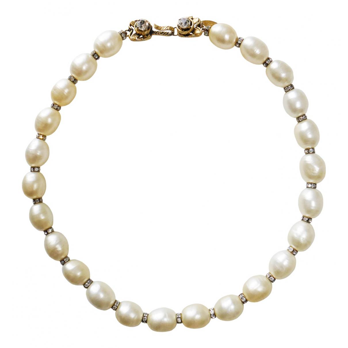 Chanel - Collier   pour femme en perles - dore