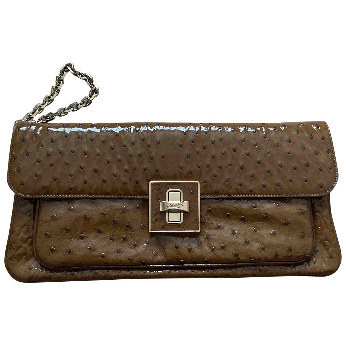 Bally N Camel Ostrich Clutch bag for Women N