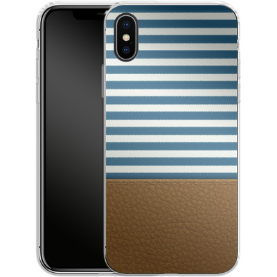Apple iPhone X Silikon Handyhuelle - Nautical von caseable Designs