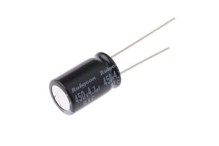 Rubycon 4.7μF Electrolytic Capacitor 450V dc, Through Hole - 450BXC4R7MEFC10X16 (5)