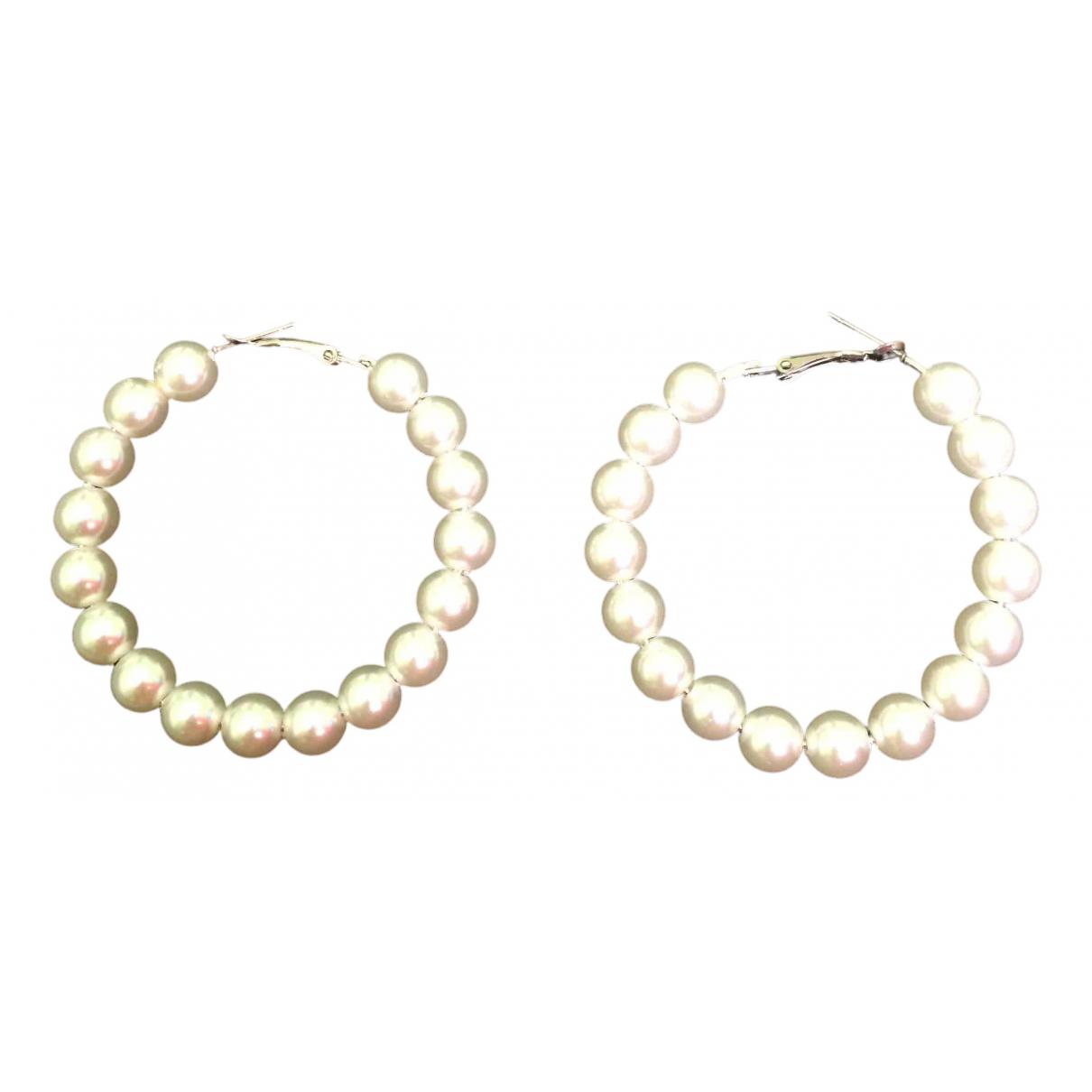 Non Signe / Unsigned Creoles OhrRing in  Metallic Perlen