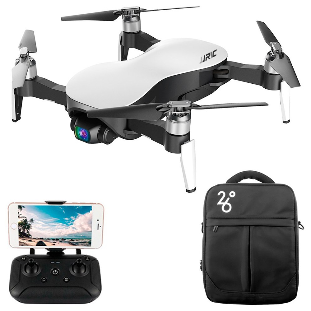 JJRC X12 4K GPS RC Drone White One Battery with Bag