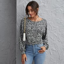 Jersey de leopardo de manga farol