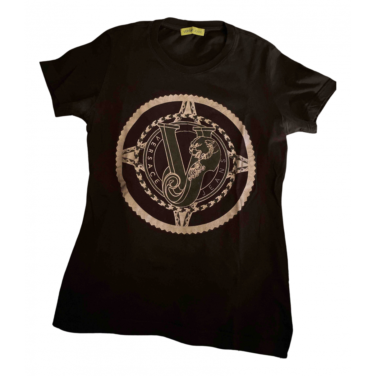 Versace Jeans N Black Cotton  top for Women 36 FR