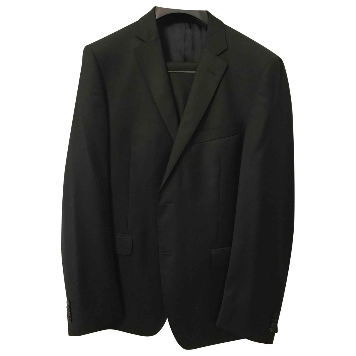 Versace \N Black Wool Suits for Men 52 IT