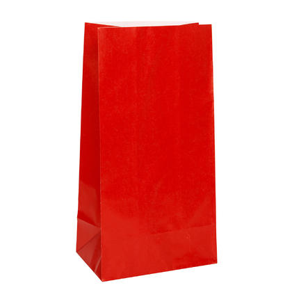 Ruby Red Paper Party Bags, 10