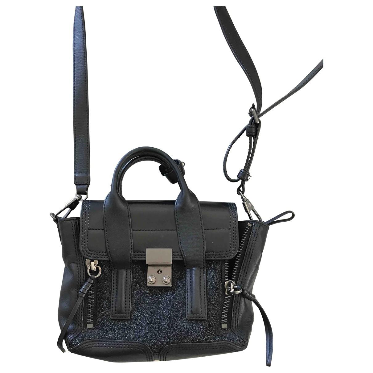 3.1 Phillip Lim Pashli Handtasche in  Schwarz Leder