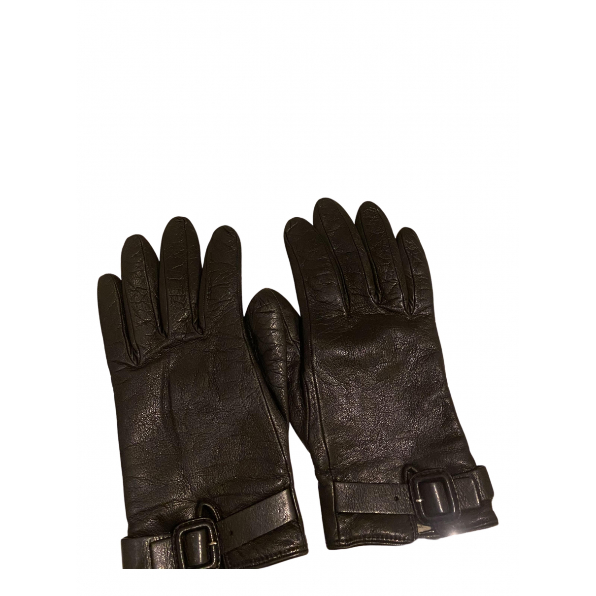 Burberry N Black Leather Gloves for Women S International