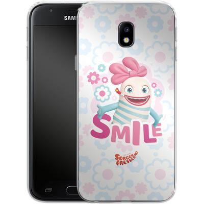 Samsung Galaxy J3 (2017) Silikon Handyhuelle - Sorgenfresser Smile von Sorgenfresser
