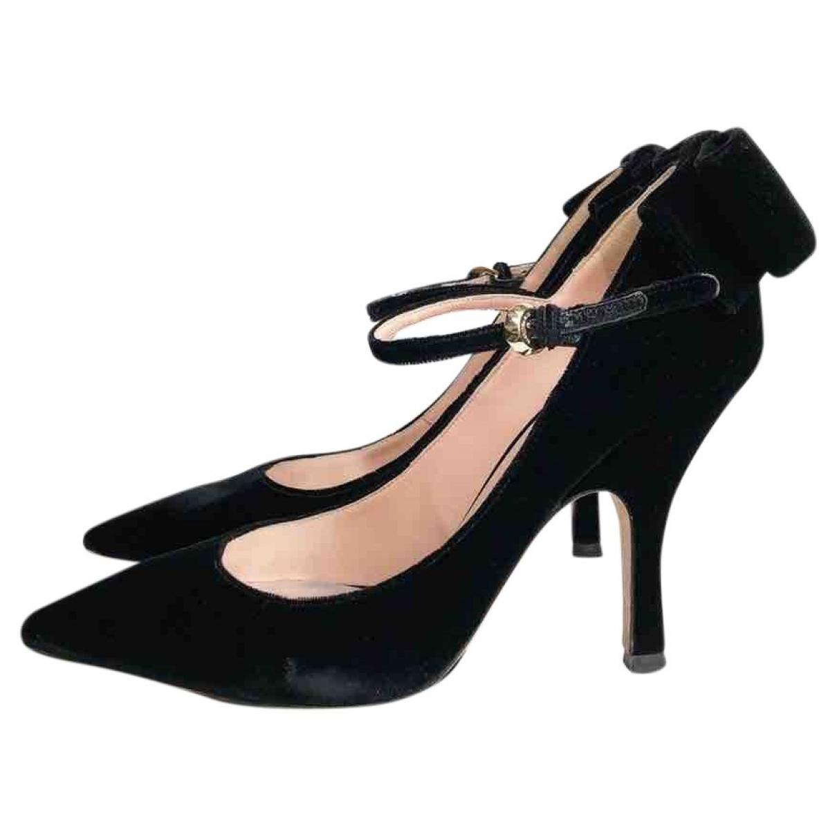 Rochas - Escarpins   pour femme en velours - noir