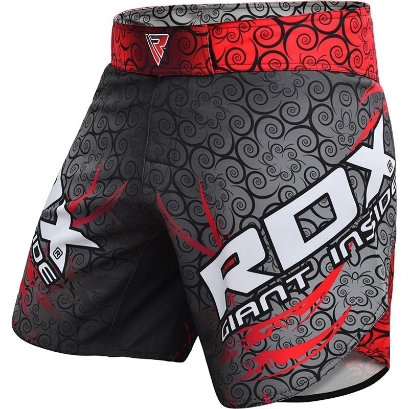 RDX R11 Short de MMA 2X Grande  Rouge Polyester