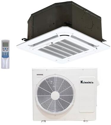 KSIE018-TIR18 Single Zone Ductless Mini Split Air Conditioner with 18000 BTU Cooling Capacity  Heat Pump and Ceiling Cassette in White - 208-230
