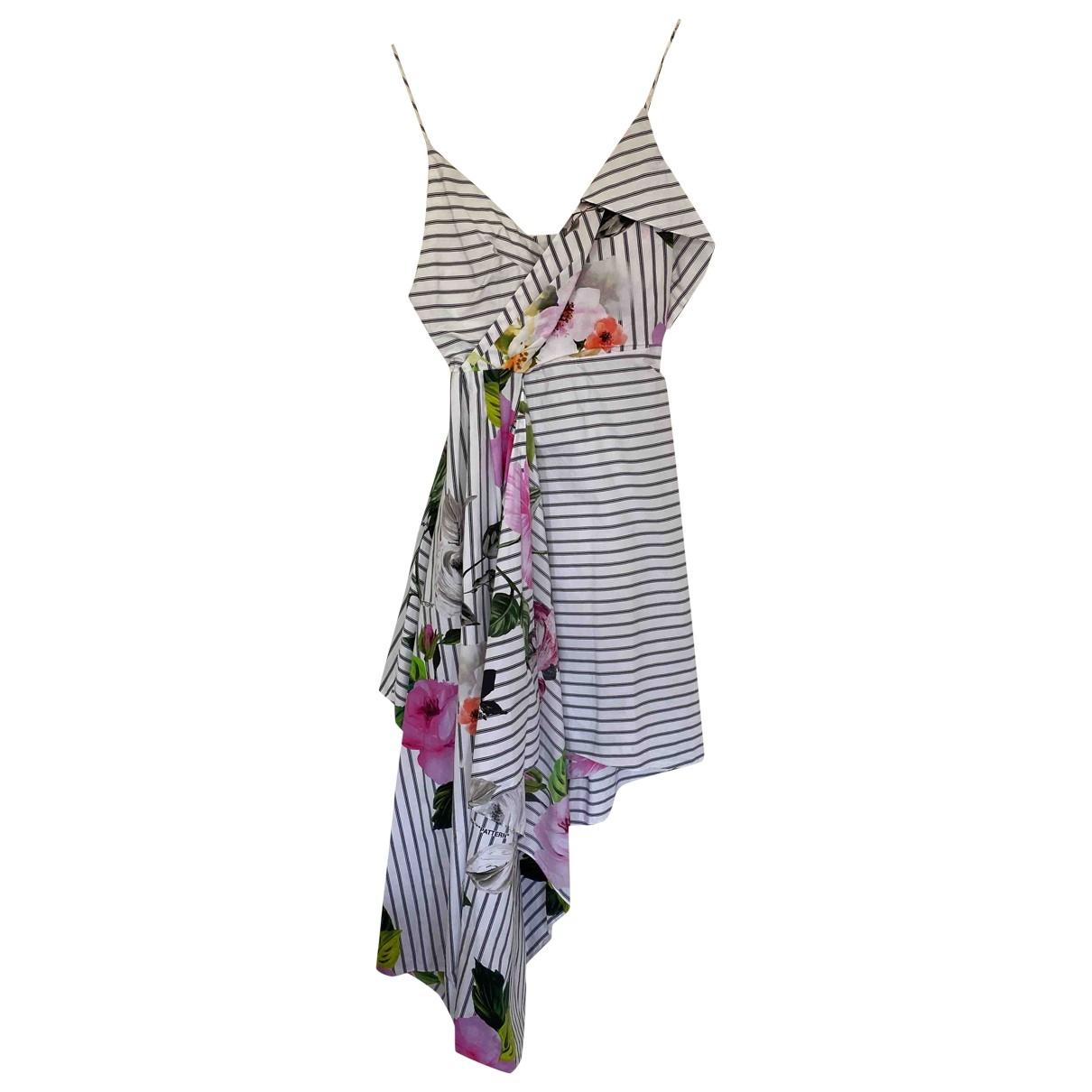 Off-white \N Kleid in  Bunt Baumwolle