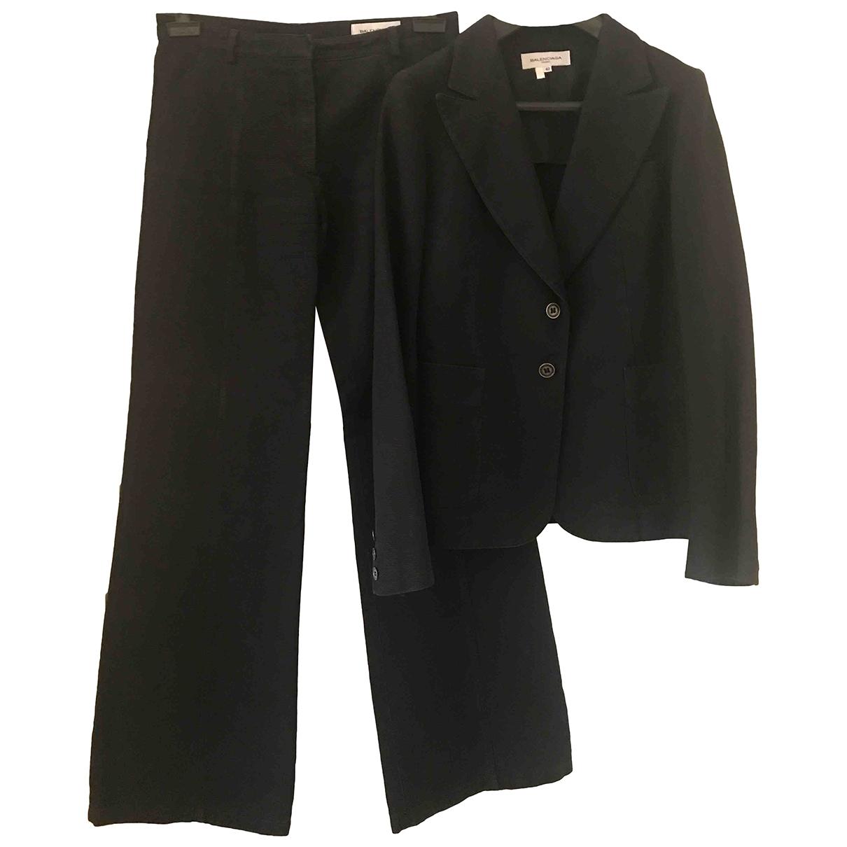 Balenciaga - Veste   pour femme en lin - noir