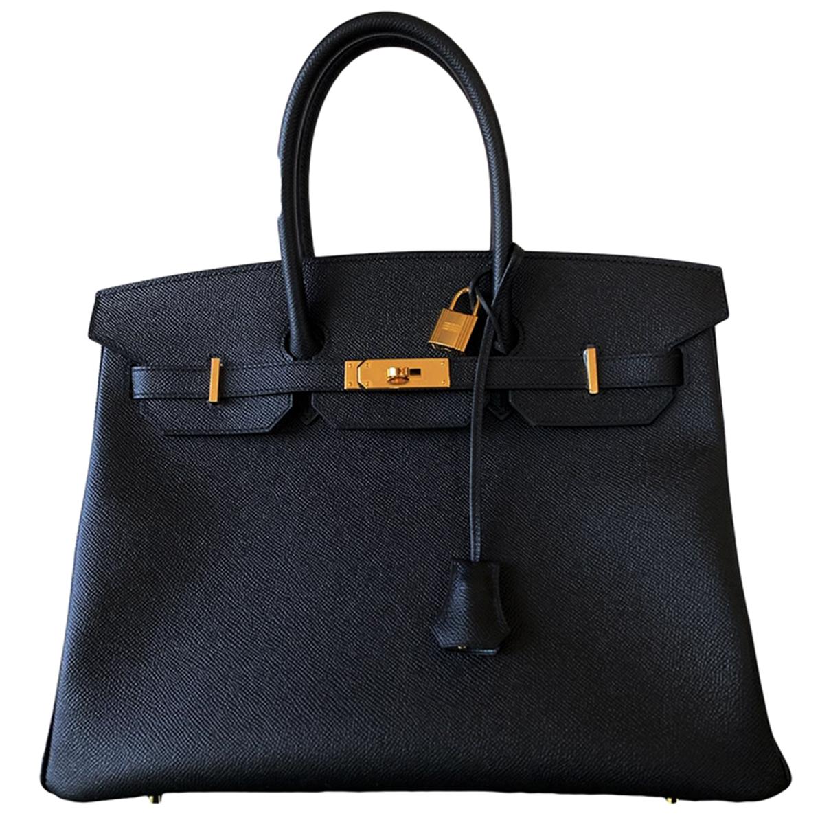 Hermès Birkin 35 Black Leather handbag for Women \N
