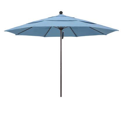 ALTO118117-5410-DWV 11' Venture Series Commercial Patio Umbrella With Matted White Aluminum Pole Fiberglass Ribs Pulley Lift With Sunbrella 1A Air