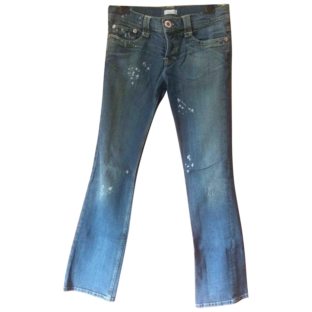 Pantalon en Denim - Vaquero Azul Pinko