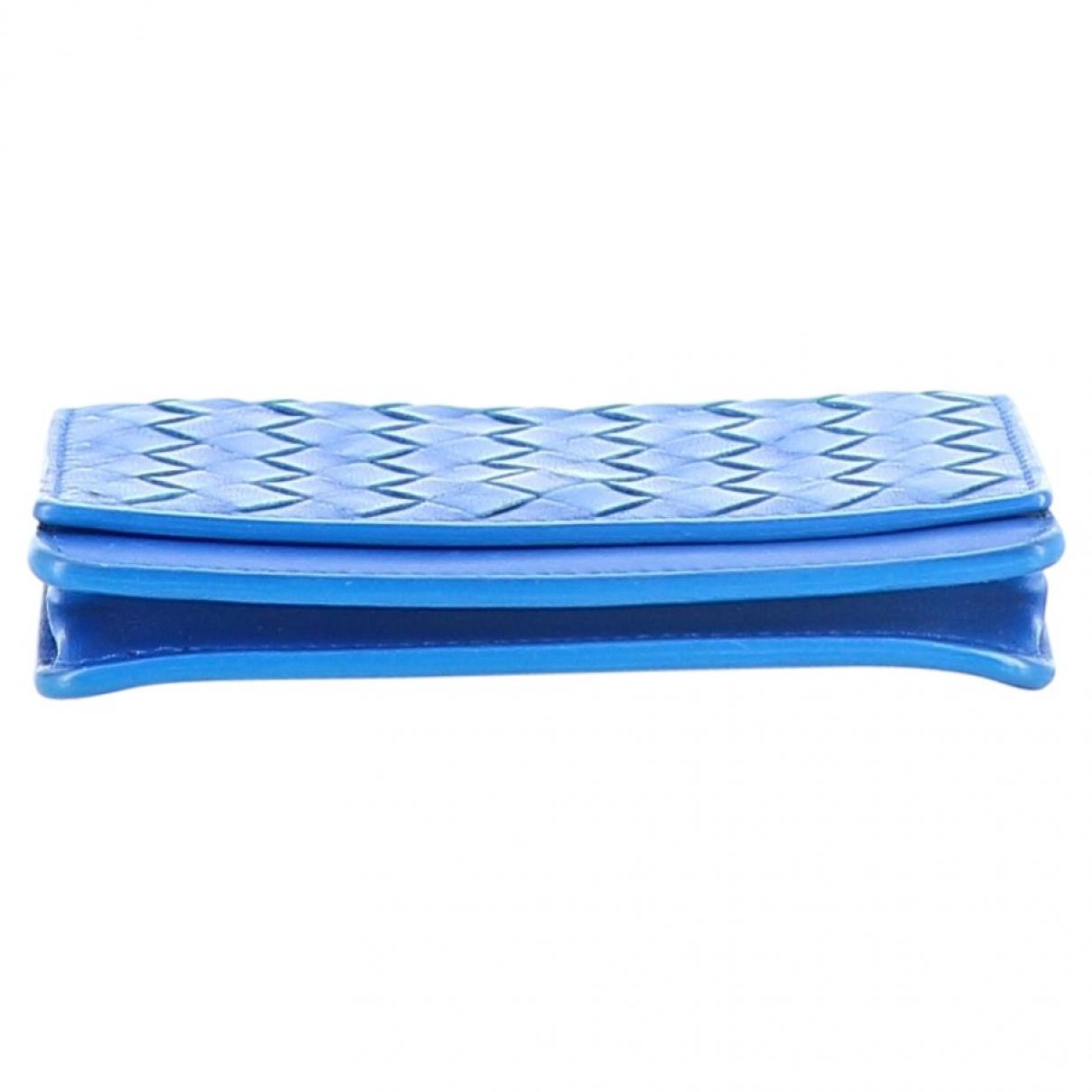 Bottega Veneta \N Kleinlederwaren in  Blau Leder