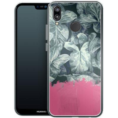 Huawei P20 Lite Silikon Handyhuelle - Sweet Pink on Jungle von Emanuela Carratoni