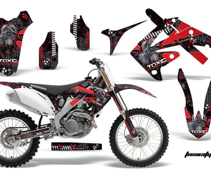 AMR Racing Dirt Bike Graphics Kit Decal Wrap For Honda CR125R | CR250R 2002-2008áTOXIC RED BLACK