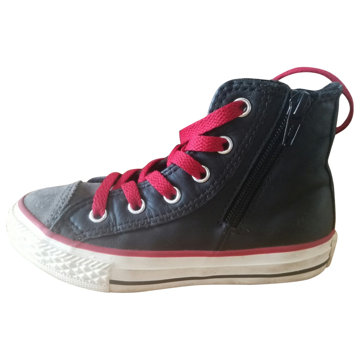 Converse - Baskets   pour enfant en cuir - noir