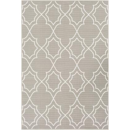 Alfresco ALF-9651 37 x 57 Rectangle Cottage Rug in Taupe