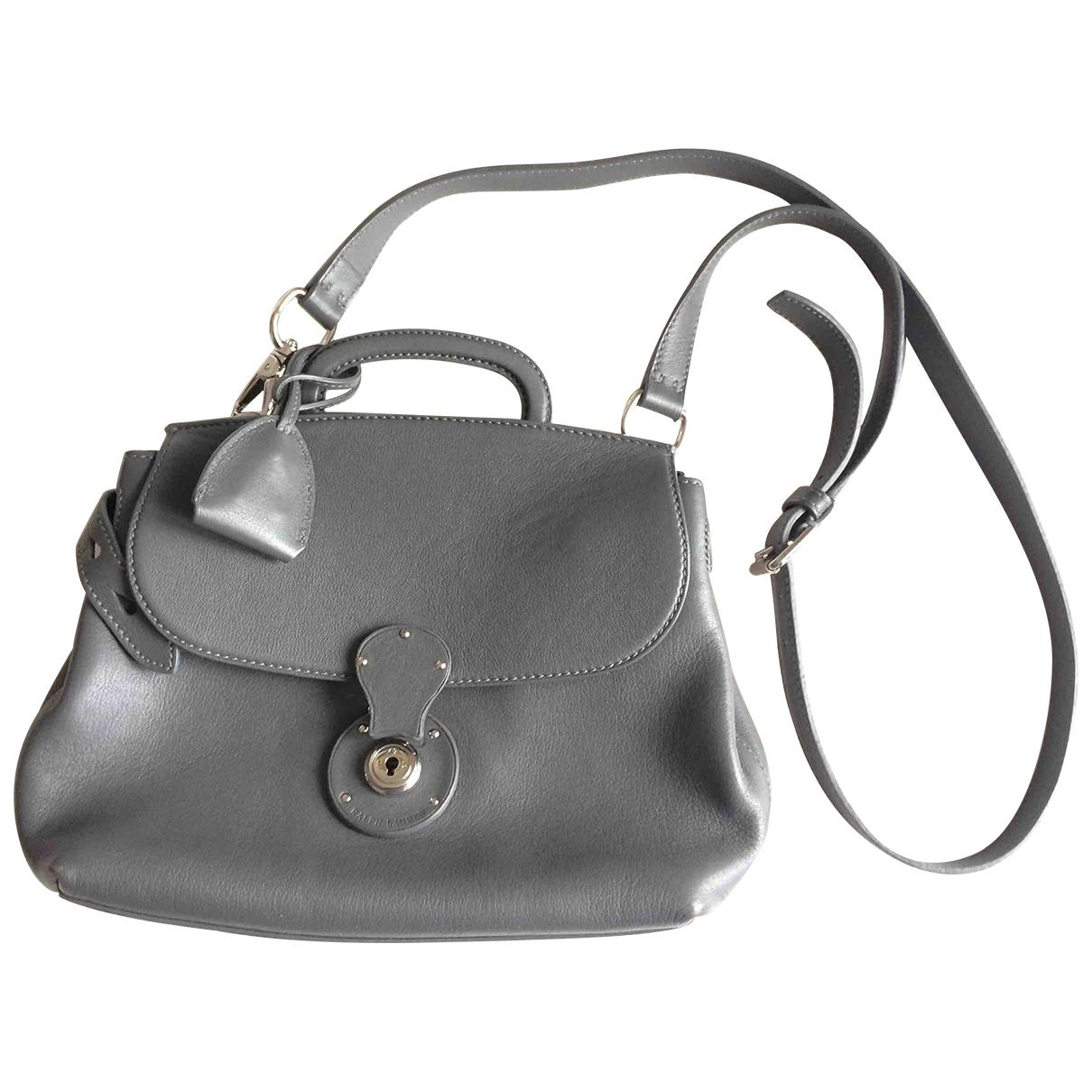 Ralph Lauren - Sac a main   pour femme en cuir - gris