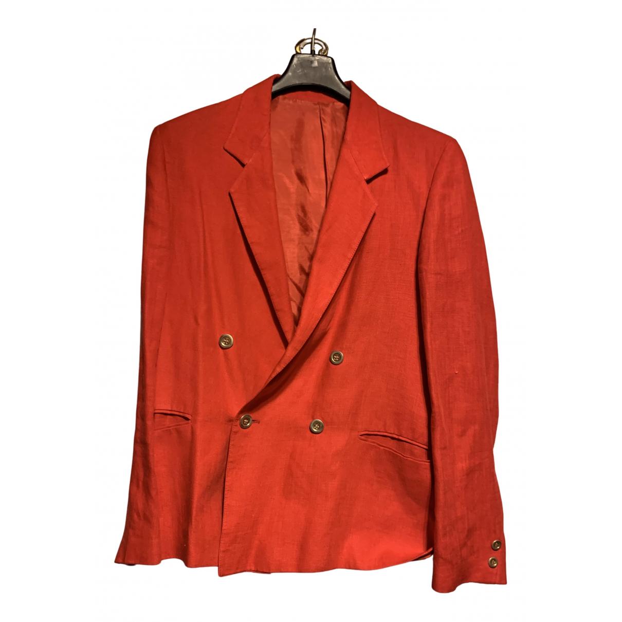 - Veste   pour femme en lin - rouge