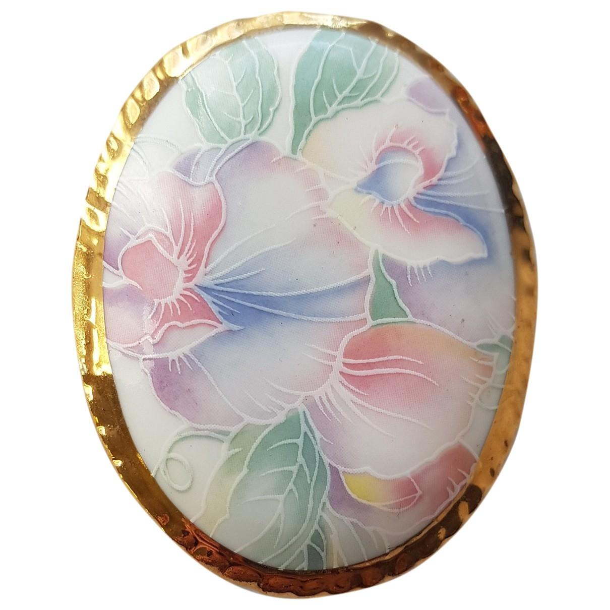 - Broche Motifs Floraux pour femme en ceramique - multicolore