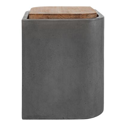 Marquis Collection BQ-1054-25 Outdoor Stool with Solid Acacia Top in Gray