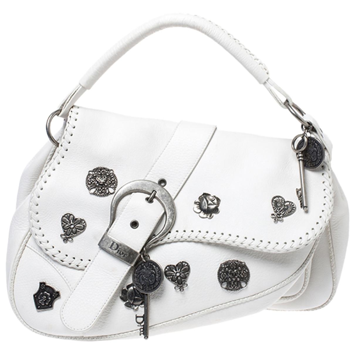 Dior - Sac a main Saddle pour femme en cuir - blanc