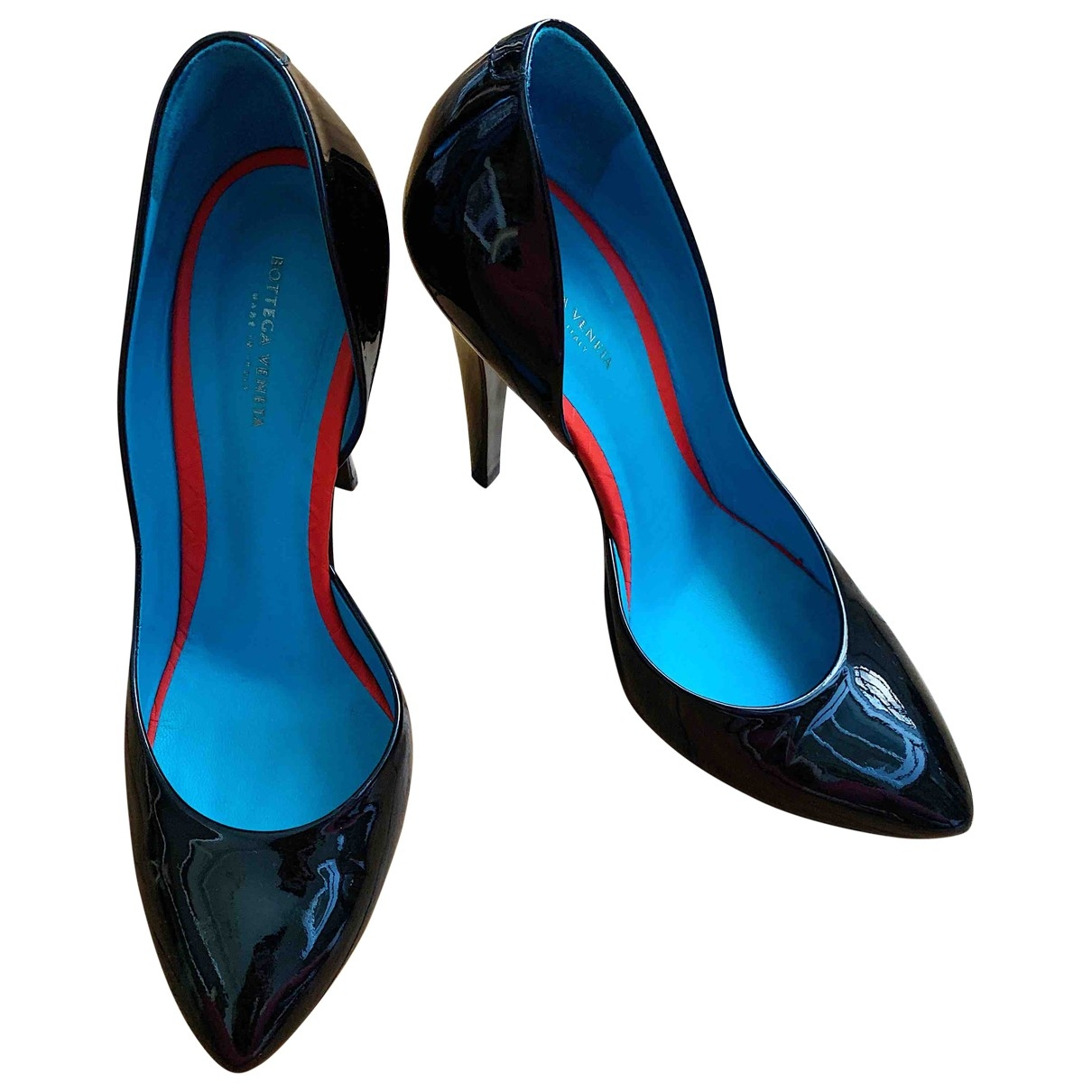 Bottega Veneta \N Black Patent leather Heels for Women 39.5 EU