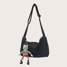 Men Cartoon Charm Crossbody Bag