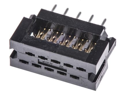 TE Connectivity 10-Way IDC Connector Plug for Cable Mount, 2-Row