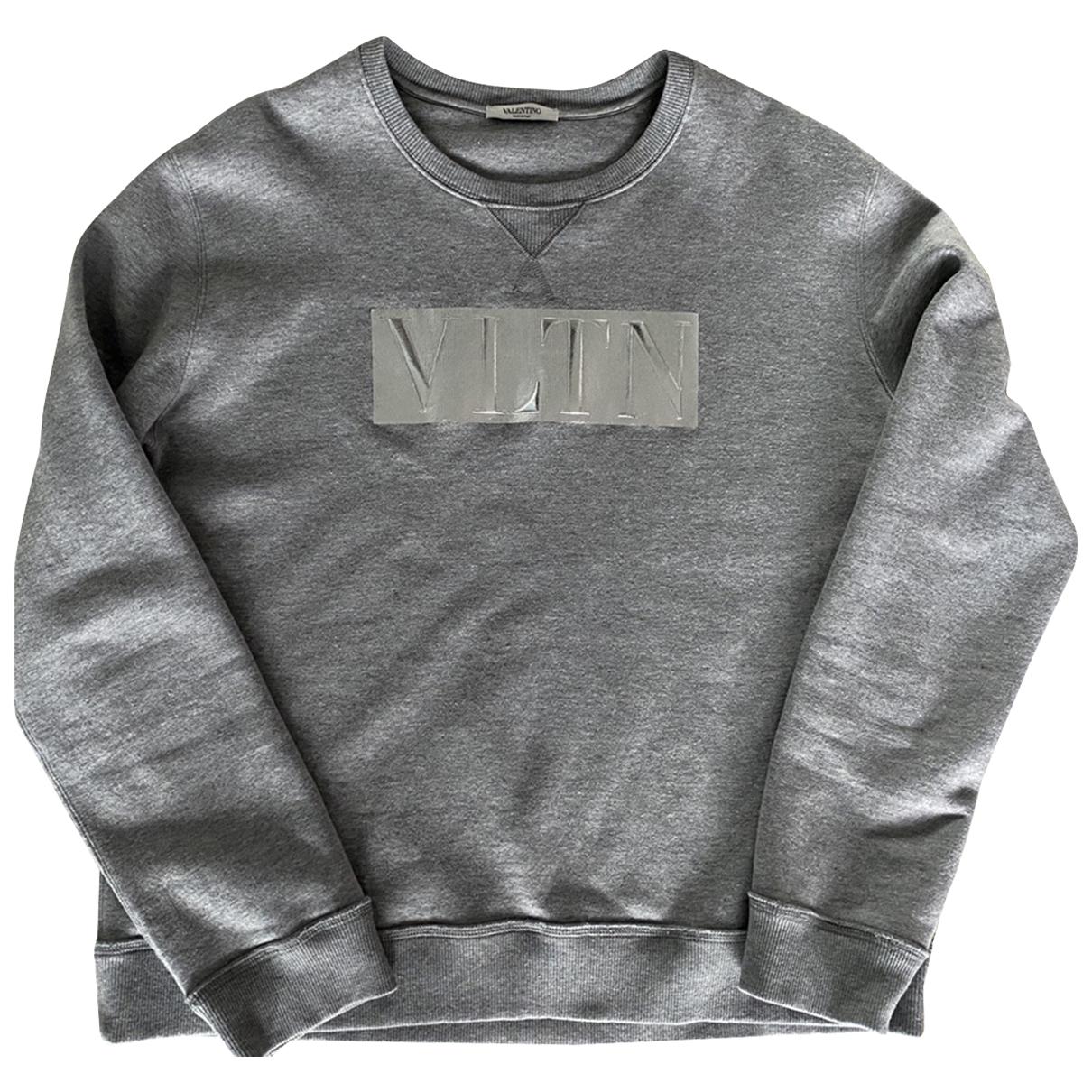 Valentino Garavani \N Pullover.Westen.Sweatshirts  in  Grau Baumwolle